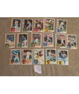 1984 orig TOPPS 16 cards: Brenly, Randolph, Boone, heep, Concepcion, B. ... - $5.79