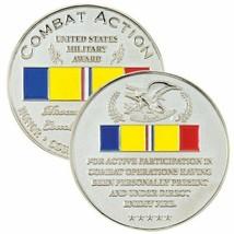 "COMBAT ACTION AWARD RIBBON COMBAT VETERAN 1.75"" CHALLENGE COIN - $17.14"