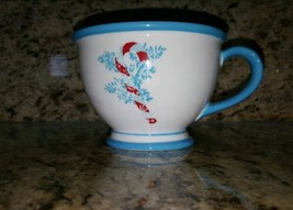 Starbucks Coffee Cup Mug Christmas Holiday 10oz Blue Jolly Candy Cane 2007 - $11.53