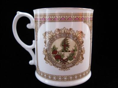 Caverswall Fine Bone China Royal Scott Train Mug