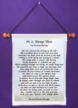 He Is Always There - Personalized Wall Hanging (407-1) - $18.99