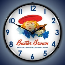 """New 1950""""s style LIGHT UP Buster Brown Childrens Shoes advertising clock  - $129.95"""