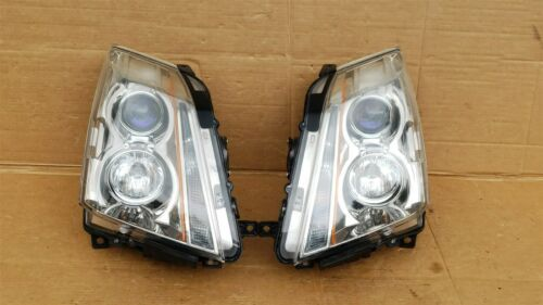 08-13 Cadillac CTS 4 door Sedan Halogen Headlight Lamp Set L&R