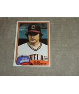 Alan Bannister Cleveland Indians original 1981 TOPPS  card # 632: NM - $3.99