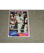 original 1981 Jim Spencer NY Yankees TOPPS card  # 435  NM - $3.99
