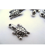 Small Silver Color Turtle Charms ~ Qty 9  - $1.98