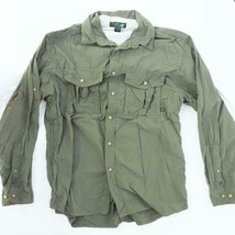 EMS Men's Long Sleeve Mesh Lined Hiking Fishing Gear Shirt Size L Large - $14.84