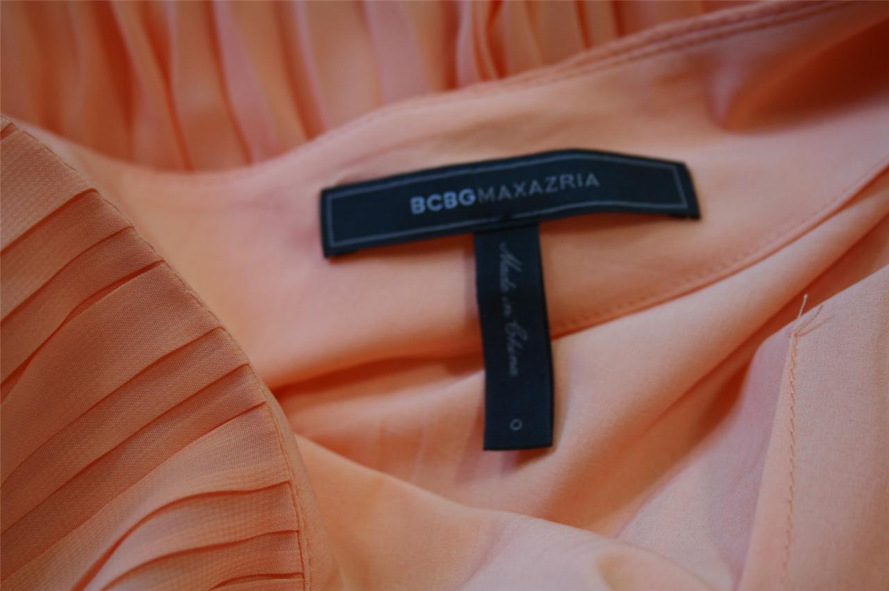 NEW  BCBG Max Azria Rika One-Shoulder Pleated Dress $298