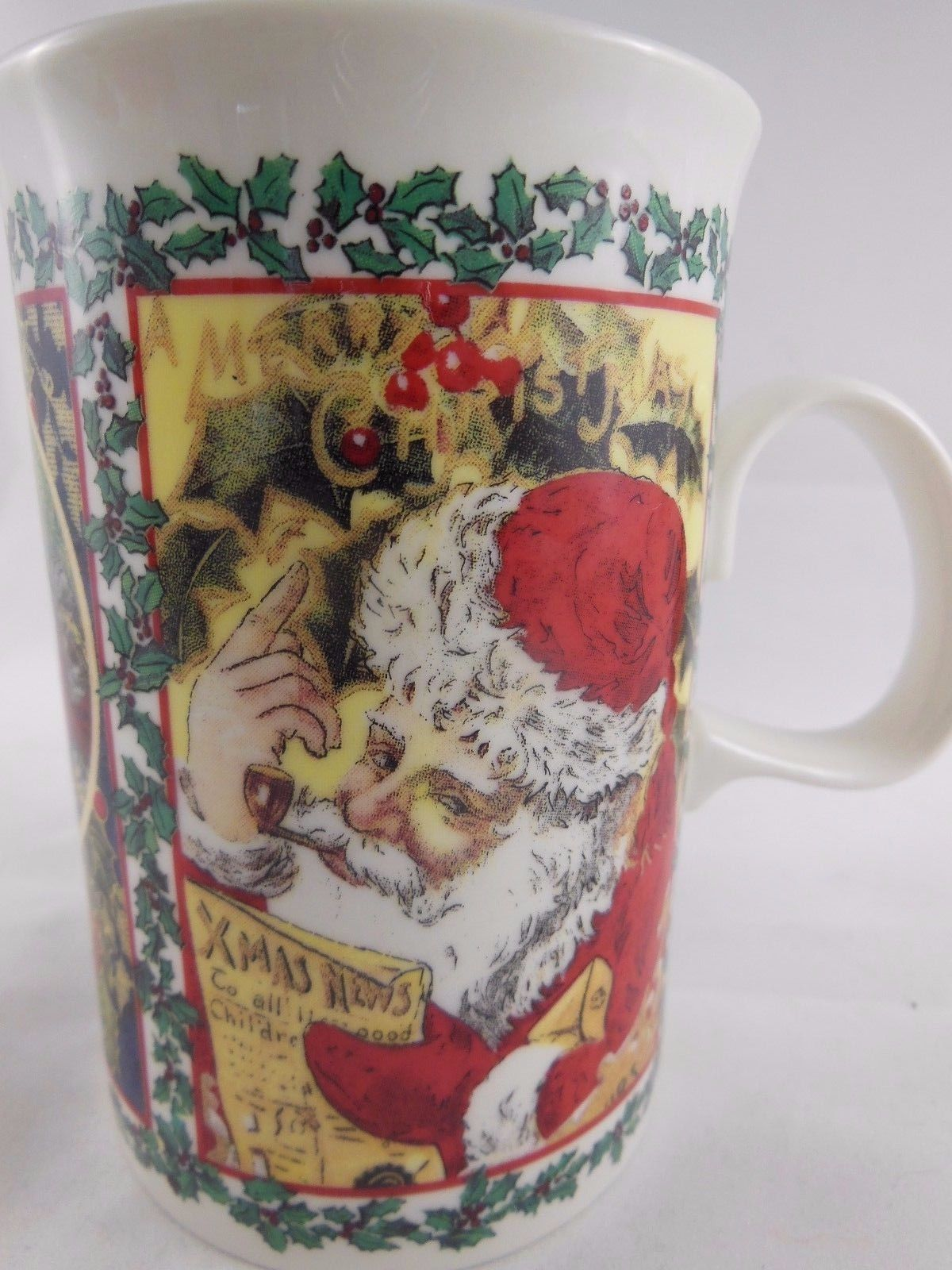 Dunoon fine Stoneware  Mug Cup  Christmas Wishes Santa Made in England
