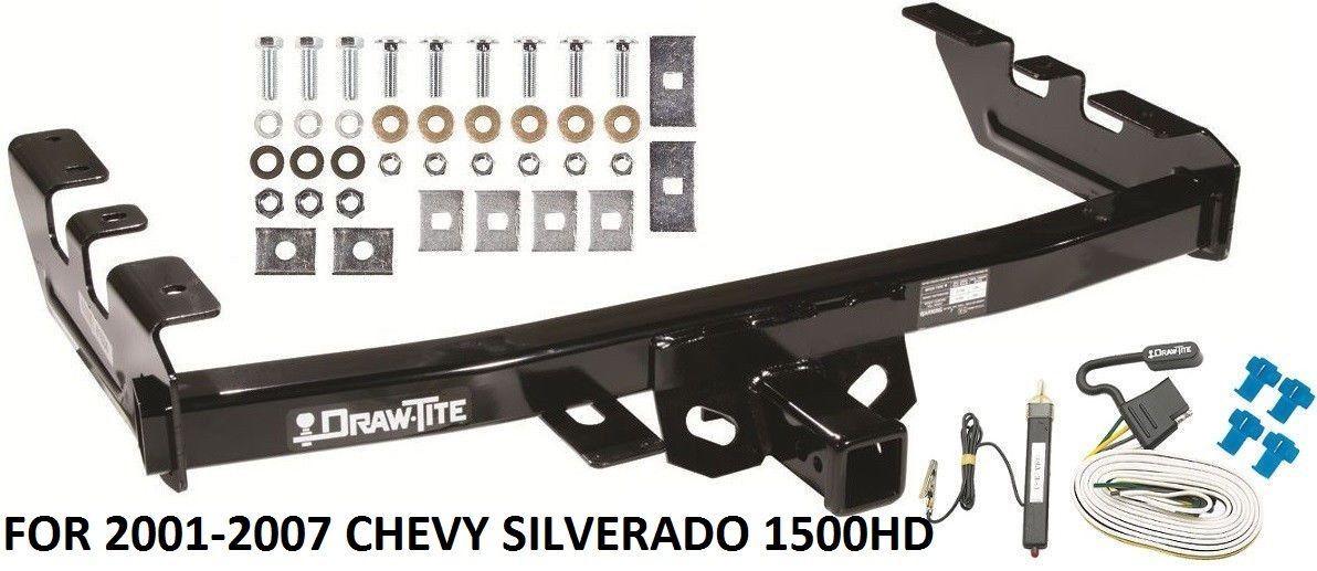 2001 2007 chevy silverado 1500hd trailer hitch w wiring. Black Bedroom Furniture Sets. Home Design Ideas