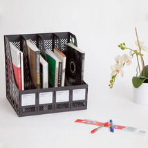 Office Desk Organizer Black  Filing Storage Accesories Home Business Sup... - $26.23