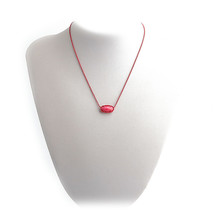 NEW! Kendra Scott Elisa Red Mother of Pearl Necklace & Dust Cover - $49.68