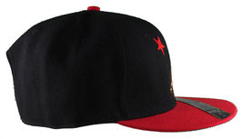 Dissizit! Side Bear Black Red Brim Snapback Cap Hat California Star Flag image 3