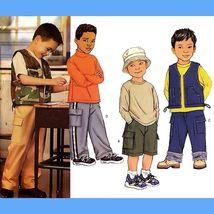 728 BOYS VEST, SHORTS & PANTS, CHILDS sz 2 3 4 5, EASY SEWING PATTERN UNCUT - $5.45