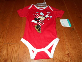 NWT Disney Baby Infant Girls Minnie Mouse Red Romper 3-6M 3/6 Months one... - $13.85