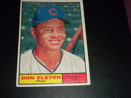 Don Elston Chicago Cubs 1961 orig TOPPS baseball card  # 169  VG+ - $3.99