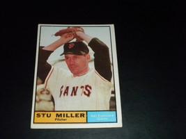 Stu Miller San Francisco Giants 1961 orig TOPPS baseball card # 72      ... - $3.99
