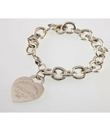 "Tiffany & Co. Sterling Silver ""Return to"" Heart Tag Bracelet Large Size ... - $356.40"