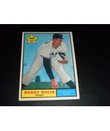 Bobby Bolin San Francisco Giants 1961 orig TOPPS Rookie card # 249 EXMT+ - $3.99