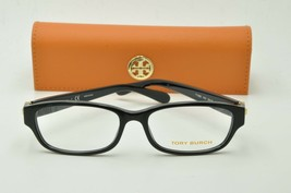 Tory Burch TY 2055 Eyeglasses 1312 Polished Black Clear lenses + Case 53mm - $79.95