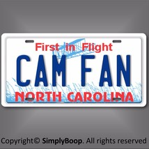 Cam Newton Fan Carolina PANTHERS NFL NFC North  State License Plate Tag ... - $12.82