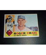 Roger Craig Los Angeles Dodgers 1960 orig TOPPS baseball card # 62 EXMT - $3.99
