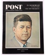 December 14 1963 Saturday Evening Post Magazine Norman Rockwell John F K... - $19.79