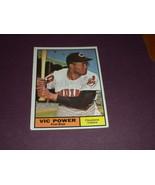 Vic Power Cleveland Indians 1961 original TOPPS baseball card # 255  EXMT+ - $3.99