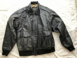 US ARMY AIR FORCE FLYERS MEN'S LEATHER TYPE A-2 FLIGHT JACKET - SIZE LAR... - $84.15