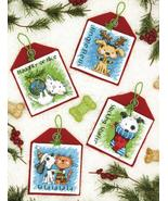 Pet Ornaments Set 4 Kit counted cross stitch Di... - $19.80