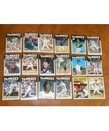 1986 18 NY Yankees TOPPS Baseball cards Mattingly Righetti Winfield Hend... - $3.99