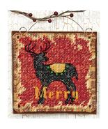 Reindeer Ornament Kit counted cross stitch Dime... - $5.00