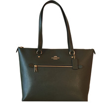 Coach Gallery Leather Tote Shoulder Bag-Canteen Green - $149.00