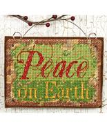 Peace On Earth Ornament Kit counted cross stitc... - $5.00