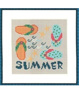 Summer Square Four Sqare seasons PDF cross stitch charts Helga Mandl Des... - $8.00