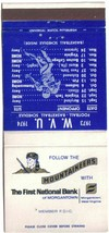 Morgantown Matchbook Cover West Virginia University 1973-74 Football Bas... - $1.89