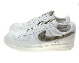 Nike Air Force 1 Low TRIPLE WHITE 2001 GG Customized 630033-911 13 VTG - $178.15
