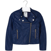 Mayoral Little Girl Asymmetric Zip Faux Leather Moto Jacket - $72.95