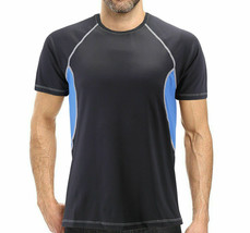 Men's Cool Quick-Dry Gym Workout Sport Running Breathable Fitness T-shirt - L image 1