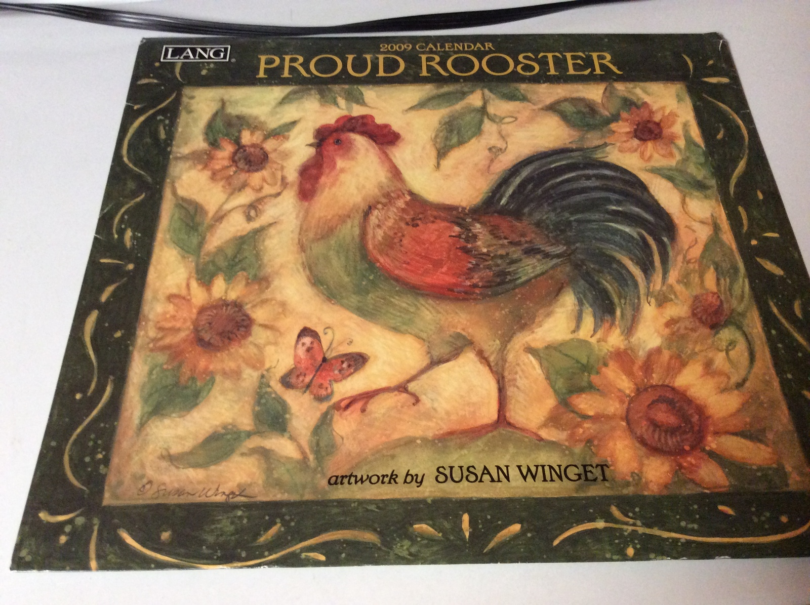 2009 Proud Rooster Calendar Used by Susan Wingest - Pictures Frameable
