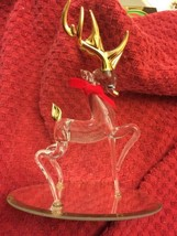 """Baron Glass Rudoph the Red Nosed Reindeer Christmas / Holiday Figure 6.25"""" - $25.69"""
