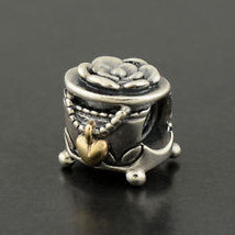 Pandora Sterling Silver Two Tone PANDORA's Box Charm - $45.00