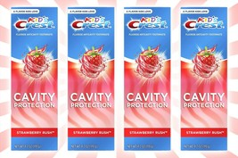 4 Crest Kids Cavity Protection Fluoride Toothpaste Strawberry Rush 4.2 OZ - $21.62