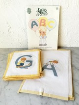 Precious Moments Cross Stitch Alphabet Book+22 Completed A-V Wall Hanging/Quilt - $94.95