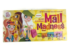 2004 Electronic Mall Madness Hasbro Gaming Incomplete For Parts Milton B... - $14.87
