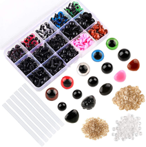 566Pcs Colorful Plastic Eyes and Noses Set For Needle Felting Bears Doll... - $13.28