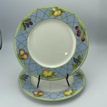 """Set of 2 Mikasa Optima Fruit Rapture Y4001 Dinner Plates 10-3/4"""" - $29.40"""