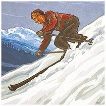 Tree-Free Greetings 97076 Downhill Skier Themed Paul A. Lanquist Art Pre... - $9.79