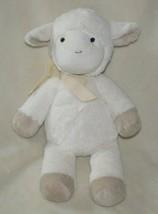 """16"""" 10"""" Cream Ivory Off White Stuffed Plush Sheep Lamb Ribbon Pottery Ba... - $44.54"""