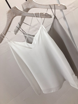 Summer V-Neck Chiffon Top Silver Gray Wedding Bridesmaids Chiffon Tops US0-IS12 image 3